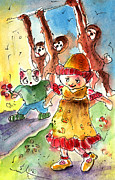 Toy Animals Drawings Prints - Toy Story in Lanzarote 01 Print by Miki De Goodaboom