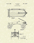 Wagon Drawings Framed Prints - Toy Wagon 1939 Patent Art Framed Print by Prior Art Design
