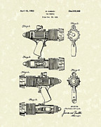 Child Drawings Prints - Toy Weapon 1953 Patent Art Print by Prior Art Design