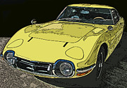 Samuel Sheats Metal Prints - Toyota 2000 GT Metal Print by Samuel Sheats