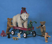 More Ideas Prints - Toys from The Roosevelt Bear Company 1989 Print by Cathy Peterson