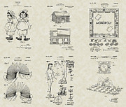Toys Drawings - Toys Games Patent Collection by PatentsAsArt