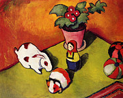 Toy Animals Painting Framed Prints - Toys Framed Print by Macke