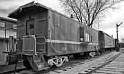 Brakeman Photos - TPW RR Caboose Black and White by Thomas Woolworth