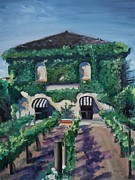 Grapevines Painting Prints - Tra Vigne Print by Donna Tuten