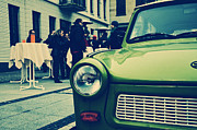 Berlin Mixed Media Prints - Trabant / Berlin Print by Gynt