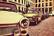 Berlin Mixed Media Prints - Trabant / Pariser Platz / Berlin Print by Gynt