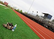 Bleachers Art - Track And Field by Tom Druin