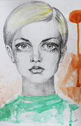 Twiggy Painting Metal Prints - Track Metal Print by R Barba
