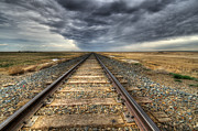 Tracks Across The Land Print by Bob Christopher