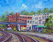 Asheville Painting Posters - Tracks by the Wedge Brewery Poster by Jeff Pittman