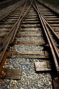 Railroad Ties Posters - Tracks into tracks Poster by Paul W Faust -  Impressions of Light