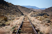 Old Train Photos - Tracks to Nowhere by Peter Tellone