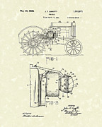 Ranch Drawings Posters - Tractor 1934 Patent Art Poster by Prior Art Design
