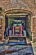 Steev Stamford Framed Prints - Tractor at rest Framed Print by Steev Stamford
