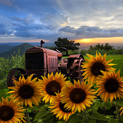 Tennessee Farm Prints - Tractor Heaven Print by Debra and Dave Vanderlaan