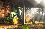 Tn Prints - Tractor in the Morning Print by Debra and Dave Vanderlaan