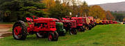 Tractor Lineup Print by Don Dennis