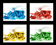 Quirky Framed Prints - Tractor Mania IV Framed Print by Kip DeVore