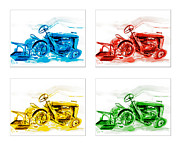 Fun Mixed Media Prints - Tractor Mania  Print by Kip DeVore