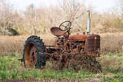 Rusty Tractor Tires Acrylic Prints - Tractor of Bygone Days Acrylic Print by Douglas Barnett