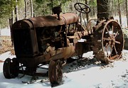 Haying Photos - Tractor Old Rusty and Deserted by Gail Matthews