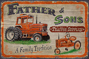 Hay Metal Prints - Tractor Supplies Metal Print by JQ Licensing
