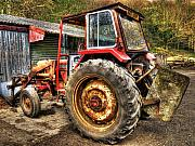 Realistic Photo Prints - Tractor Print by Svetlana Sewell