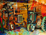 Machinery Digital Art Posters - Tractors in Storage No2 Poster by Bogdan Teresa