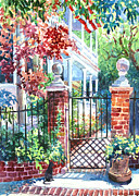 Brick Paintings - Tradd Street Tradition by Alice Grimsley