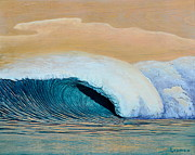 Surf Art Reliefs Posters - Trade Winds Poster by Nathan Ledyard