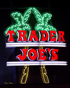 Grocery Store Prints - Trader Joe Sign Print by Chuck Staley