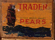 Greengrocer Framed Prints - Trader Pears Crate Label Framed Print by Richard Reeve