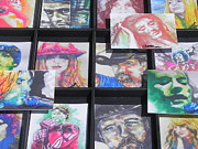 Colorful Photos Painting Posters - Trading Cards... Famous Artists Poster by Chrisann Ellis