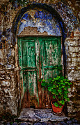 Architectur Photos - Traditional Door by Emmanouil Klimis