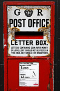 Post Box Prints - Traditional letter box in Hastings England Print by Robert Preston