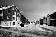 Honningsvag Prints - traditional norwegian street in Honningsvag finnmark norway europe Print by Joe Fox