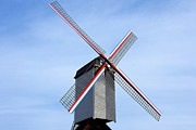 Rotation Photo Prints - Traditional old windmill in Belgium Print by Kiril Stanchev