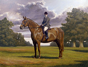 Jockey Paintings - Traditional Portrait by John Silver
