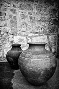 Medieval Entrance Photo Prints - Traditional pottery Print by Jose Elias - Sofia Pereira