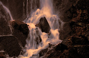 Traditional Waterfall At Sunset Print by Lawrence Christopher