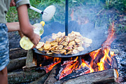 Barbecue Photos - Traditional way of preparing potatoes by Gabriela Insuratelu