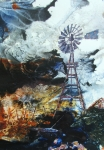 Abstract Windmill. Paintings - Traditional Windpower by Ken McBride