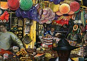 Jerusalem Paintings - Traditions of Ancient Commerce Jerusalem by Gaye Elise Beda