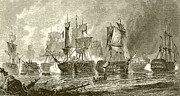 Battle Of Trafalgar Metal Prints - Trafalgar Metal Print by English School