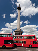 Trafalgar Prints - Trafalgar Square in London the UK Print by Michal Bednarek