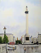 Trafalgar Paintings - Trafalgar Square London by Diane Marcotte