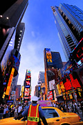 Bright Lights Posters - Traffic Cop in Times Square New York City Poster by Amy Cicconi