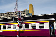 Train Town Photos - traffic light at Hua Lampong station by Setsiri Silapasuwanchai
