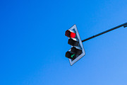 Traffic Control Photo Posters - Traffic Light - Featured 3 Poster by Alexander Senin